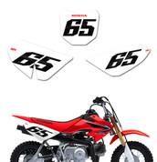 'BLANK' Series Race Numbers - Honda Mini Bikes