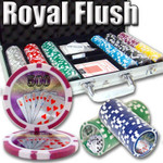 500 pc Royal Flush Professional 11.5g Poker Chip Set with Case & FREE OFFER