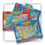 Magnetic Playboard Map Puzzles | T.S. Shure