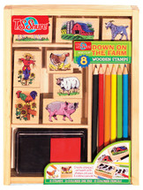 Down on the Farm Wooden Stamp Set | T.S. Shure
