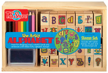 Artsy Alphabet Wooden Stamp Set | T.S. Shure