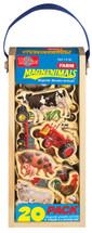 Farm Vehicles & Animals Wooden Magnets - 20 Piece MagnaFun Set | T.S. Shure