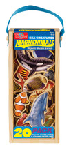 Sea Creatures Wooden Magnets - 20 Piece MagnaFun Set | T.S. Shure