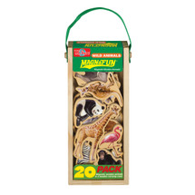 Wild Animals Wooden Magnets - 20 Piece MagnaFun Set | T.S. Shure
