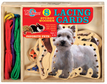 Favorite Pets Lacing Cards Activity Set | T.S. Shure