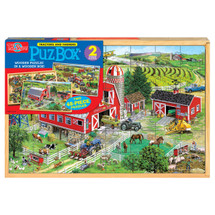 PuzBox_¶_¶½ American Tractors: 2 Puzzles in Jumbo Box | T.S. Shure