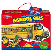 Big Yellow School Bus Shaped Jumbo Floor Puzzle | T.S. Shure