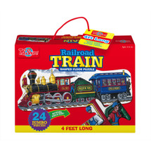 Railroad Train Shaped Jumbo Floor Puzzle | T.S. Shure