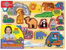 Chunky WorldÇ__¶_¶œÇ_¶½ Zoo Animals Wooden Puzzle | T.S. Shure