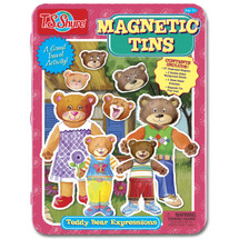 Teddy Bear Expressions Magnetic Tin Playset | T.S. Shure