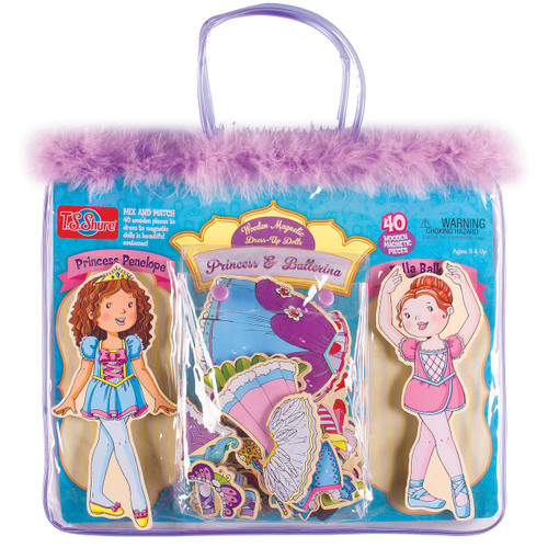 Princess & Ballerina Wooden Magnetic Dress-Up Dolls   T.S. Shure