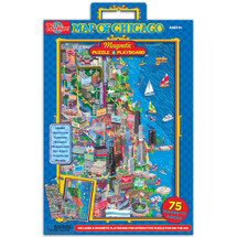 Map of Chicago Magnetic Puzzle & Playboard | T.S. Shure