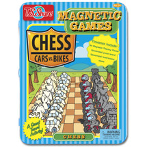 Chess Magnetic Game Tin Game - Cars vs. Bikes | T.S. Shure