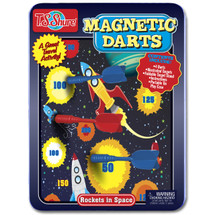 Rockets in Space Magnetic Darts Game Tin | T.S. Shure