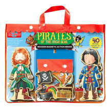 Pirates of the High Seas Wooden Magnetic Action Heroes | T.S. Shure