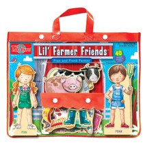 Lil' Farmer Friends Fran & Frank Farmer Wooden Magnetic Dress-Ups | T.S. Shure