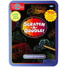 Scratch-A-Doodle Transportation Activity Tin | T.S. Shure