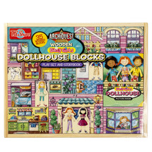 ArchiQuest Wooden Daisy GirlsÇ__Ç_¶_ Dollhouse Blocks Play Set & Storybook | T.S. Shure