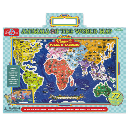 Animals of the world map magnetic puzzle playboard ts shure gumiabroncs Choice Image