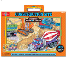 Construction Site Magnetic Playboard & Puzzle | T.S. Shure