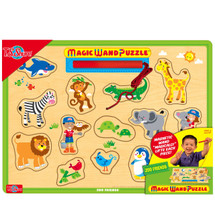Zoo Friends Magic Wand Wooden Magnetic Puzzle | T.S. Shure