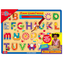 Learn Your ABCs Magic Wand Wooden Magnetic Puzzle | T.S. Shure