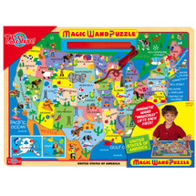 Map of the U.S.A. Magic Wand Wooden Magnetic Puzzle | T.S. Shure