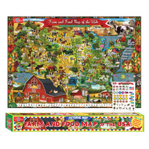 Farm & Food Map of the USA Pictorial Poster   T.S. Shure