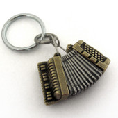 Accordion Locket Keychain
