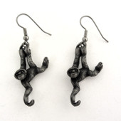 gibbon ape earrings
