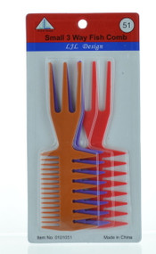 Assorted Small 3 Way Fish Combs (Dozen)