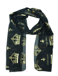 I Love Jesus Crown Scarf (Dozen)