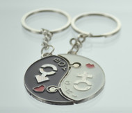 Yin & Yang Gender Symbol Couple Keychain (Dozen)
