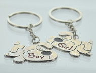 Puppy Love Couple Keychain (Dozen)