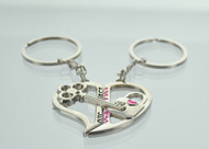 Heart & Key Lock Couple Keychain (Dozen)