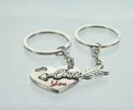 Heart & Love Arrow Couple Keychain (Dozen)