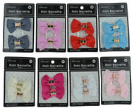 Ribbon Hair Barrette 84 (Dozen)