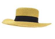 Straw Beach Brooch Hat