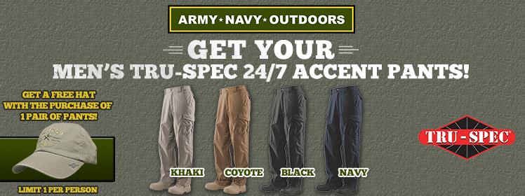 Men's Tru-Spec 24/7 Accent Pants. Free hat with purchase!