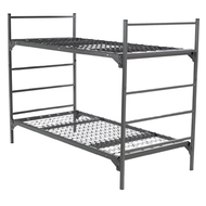 Military Bunkable Bed Set shown in Grey