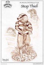 Andrew Hull Stop Thief Badger - Working Drawing
