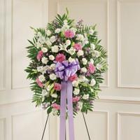 Lavender & White Standing Spray