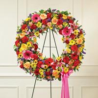 Multicolor Bright Standing Wreath