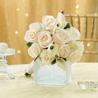 All White Bridesmaid Bouquet
