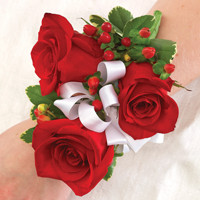 All Red Corsage