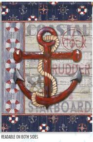 Garden Flag Anchors Aweigh