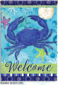 Garden Flag Blue Crab