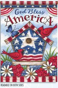 Garden Flag Americana Birdhouse
