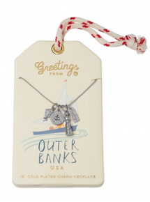 Outer Banks Charm Necklace Silver