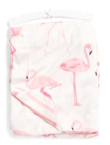 Baby Throw Blanket Pink Flamingo
